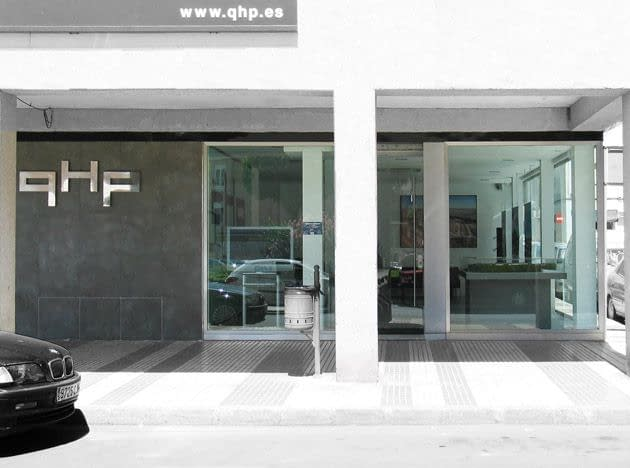 , QHP office. Commercial property and office remodelling projects in Madrid