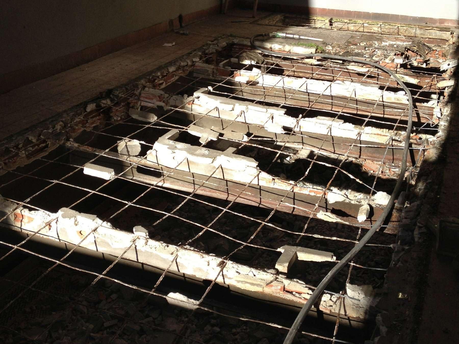 Demolición forjado rehabilitación de edificio de uso mixto en Arganzuela, Madrid