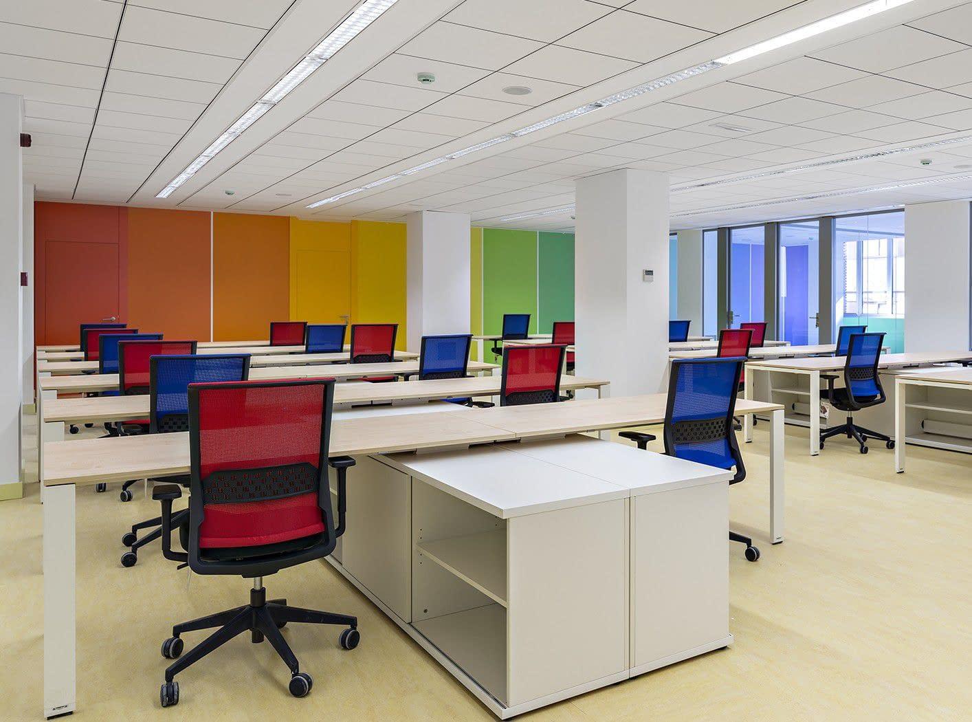 Open space reforma de oficina de consultoría informática Barrio de Salamanca Madrid