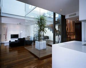 Salón de una vivienda de lujo